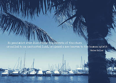 Vintage Miami Quote Art Print by JAMART Photography