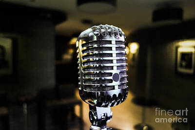 Photograph - Vintage Microphone In Bar by Perry Van Munster