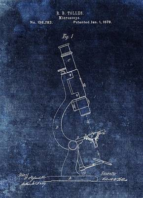 Drawing - Vintage Microscope Patent by Dan Sproul