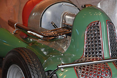 Photograph - Vintage Midget Racer Front End by Mike Martin
