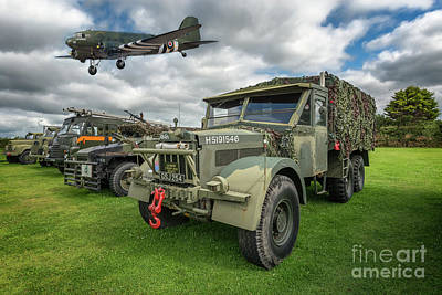Vintage Military Transport Art Print by Adrian Evans