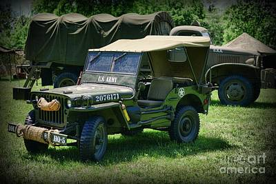 Photograph - Vintage Military Vehicles by Paul Ward