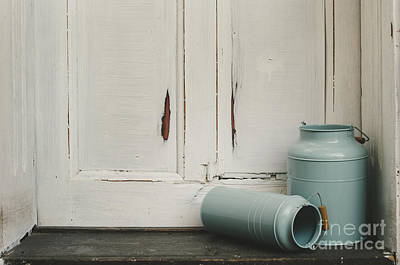 Old Door Photograph - Vintage Milk Canisters. by Jelena Jovanovic