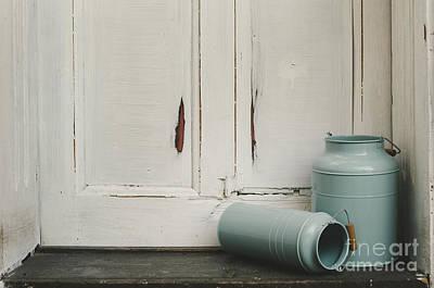Vintage Blue Photograph - Vintage Milk Canisters. by Jelena Jovanovic
