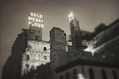 Photograph - Vintage Mill City by Heidi Hermes