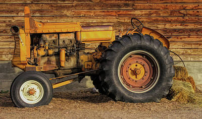 Photograph - Vintage Minneapolis Moline Tractor by David King
