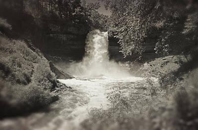 Photograph - Vintage Minnehaha Falls V2 by Heidi Hermes