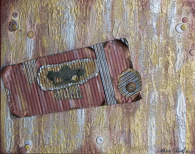 Hardware Painting - Vintage by Molly Roberts