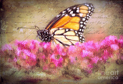 Digital Art - Vintage Monarch by Tina LeCour