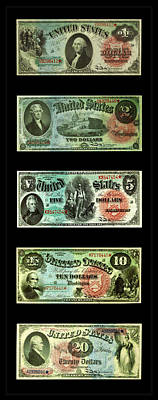 Photograph - Vintage Money 1 by Andrew Fare