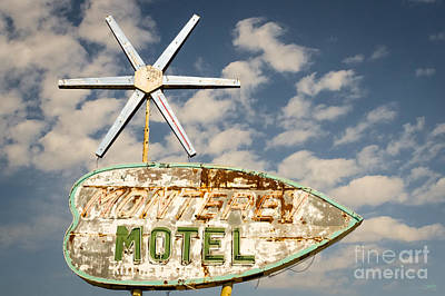 Photograph - Vintage Monterey Motel Neon Sign by Imagery by Charly