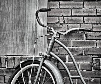 Photograph - Vintage Montgomery Ward Bicycle 6 - B/w by Greg Jackson