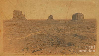 Photograph - Vintage Monument Valley by Tim Richards