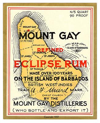 Painting - Vintage Mount Gay Rum by Vintage Pix