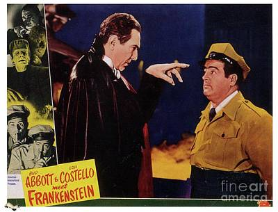 Surrealism Royalty-Free and Rights-Managed Images - Vintage Movie Posters, Abbott and Costello Meet Frankenstein by Esoterica Art Agency