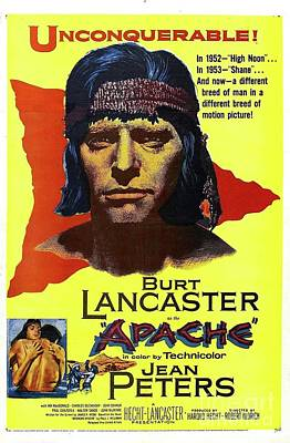 Royalty-Free and Rights-Managed Images - Vintage Movie Posters, Apache, Burt Lancaster by Esoterica Art Agency