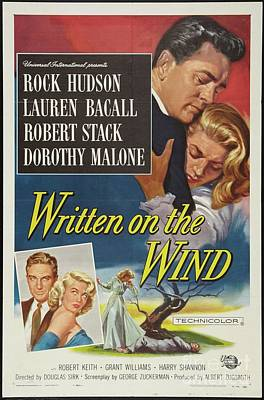 Surrealism Royalty-Free and Rights-Managed Images - Vintage Movie Posters, Written on the Wind by Esoterica Art Agency