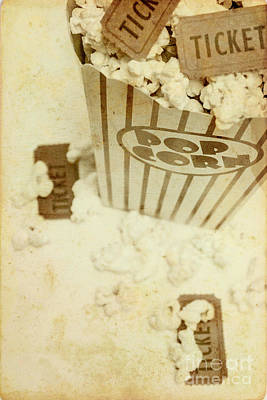 Photograph - Vintage Movie Tickets And Popcorn by Jorgo Photography - Wall Art Gallery