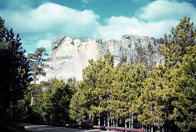 Photograph - Vintage Mt Rushmore 1950s by Marilyn Hunt