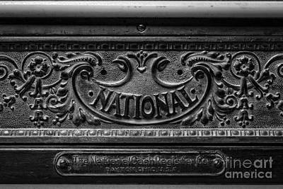 Cash Register Photograph - Vintage National Cash Register by Edward Fielding