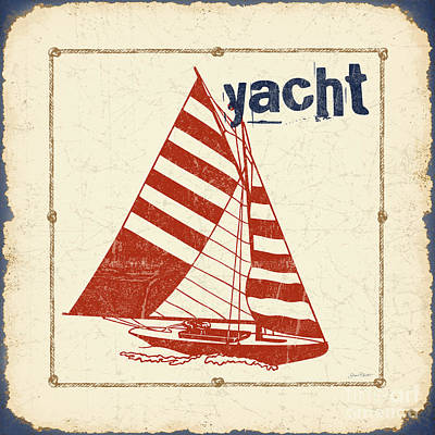 Boating Digital Art - Vintage Nautical-jp2753 by Jean Plout