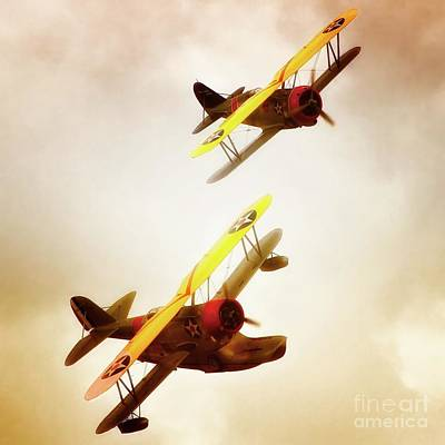 Vintage Naval Biplanes 2011 Chino Planes Of Fame Air Show Original by Gus McCrea