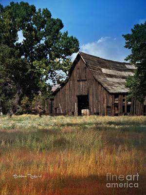 Photograph - Vintage Nevada Barn by Bobbee Rickard