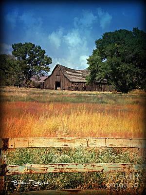 Photograph - Vintage Nevada Barn IIi by Bobbee Rickard
