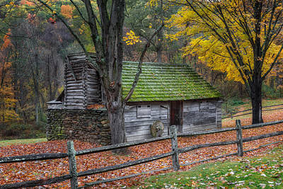 Farm Photograph - Vintage New England Cabin by Bill Wakeley