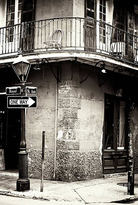 Vintage New Orleans French Quarter Art Print