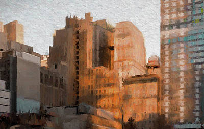 Painting - Vintage New York City Apartments by Thomas Logan