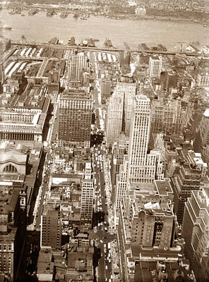 Photograph - Vintage New York Manhattan by Marilyn Hunt