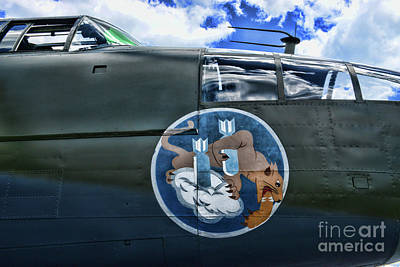 Photograph - Vintage Nose Art B-25j Mitchell by Paul Ward