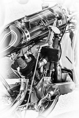 Photograph - Vintage Nut Motorcycle by Tim Gainey