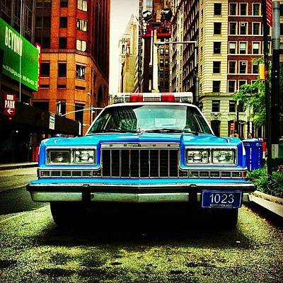 Car Photograph - Vintage Nypd. #car #nypd #nyc by Luke Kingma
