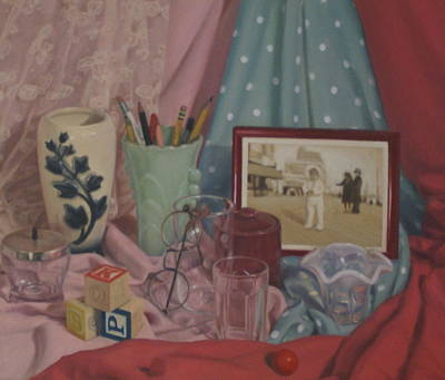 Painting - Vintage Objects by Suzn Art Memorial