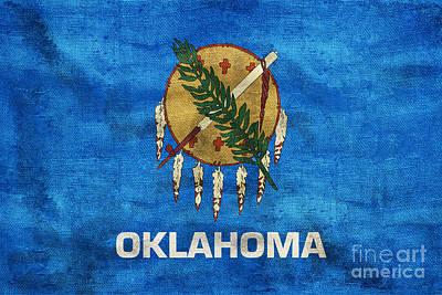 Oklahoma Photograph - Vintage Oklahoma Flag by Jon Neidert