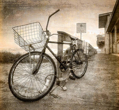 Vintage Ol' Bike Art Print by Debra and Dave Vanderlaan