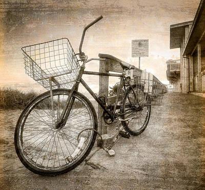 Beach Bicycle Photograph - Vintage Ol' Bike by Debra and Dave Vanderlaan