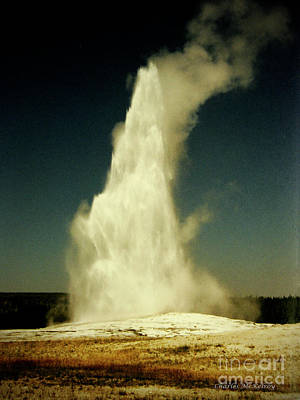Photograph - Vintage Old Faithful by Charles McKelroy