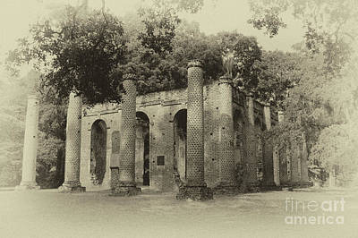 Photograph - Vintage Old Sheldon Church Ruins by Dale Powell