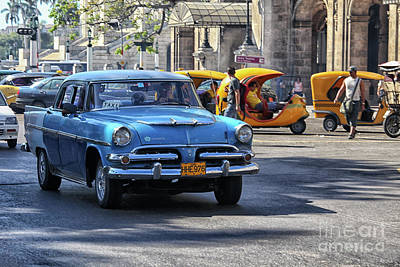 Photograph - Vintage 1956 Dodge In Havana by Patricia Hofmeester