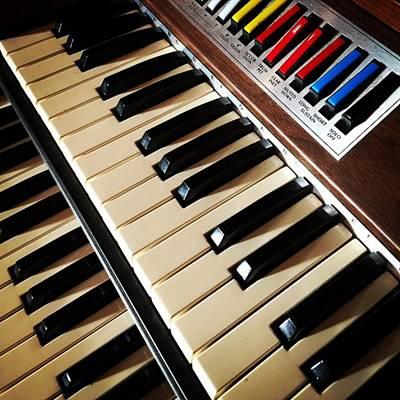 Musical Photograph - Vintage Organ #juansilvaphotos by Juan Silva