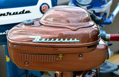 Photograph - Vintage Buccaner Outboard  by David Lee Thompson