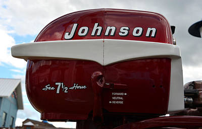 Photograph - Vintage Johnson Outboard  by David Lee Thompson