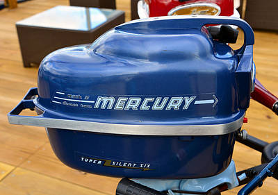 Photograph - Vintage Mercury Mark Six Outboard by David Lee Thompson