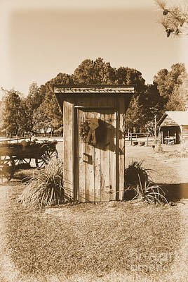 Photograph - Vintage Outhouse  by Bob Sample