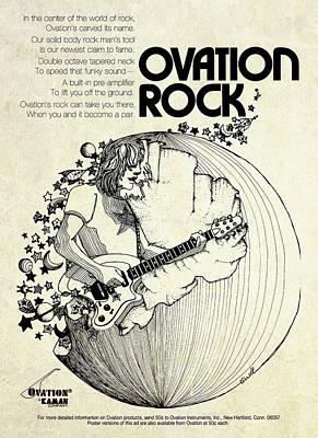 Vintage Ad Digital Art - Vintage Ovation Guitar Ad by Gary Bodnar