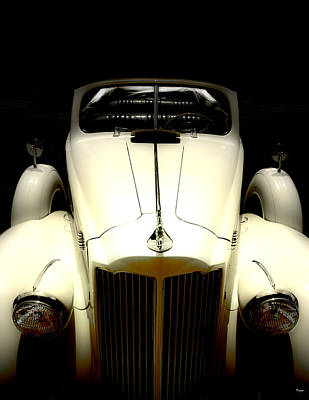 Vintage Packard Convertible  Art Print by Steven Digman