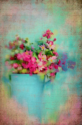 Flowers From A Cottage Garden Art Print